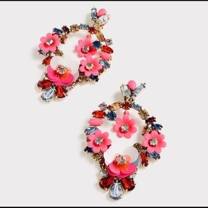J,Crew Floral Earrings
